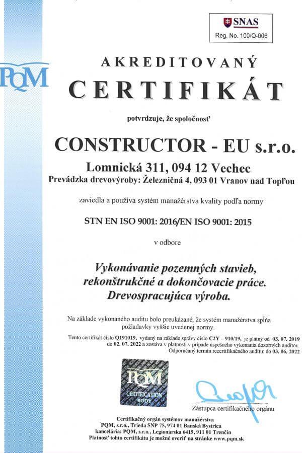 STN EN ISO 9001:2016/EN ISO 9001:2015