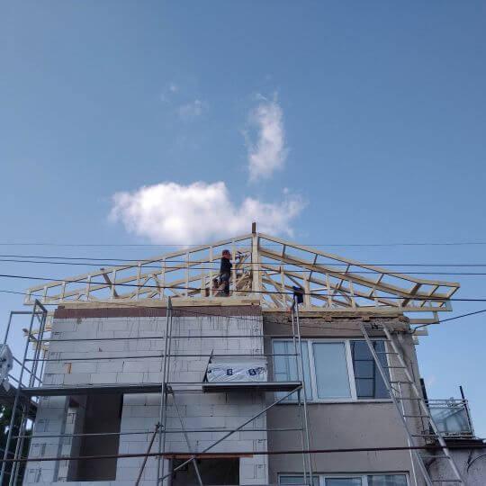 Rekonštrukcia strechy Nižná Myšľa - Obrazok