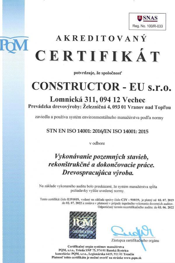 STN EN ISO 14001: 2016/EN ISO 14001: 2015
